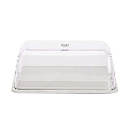 Zak Designs Colorways Plastic Butter Dish, Eggshell White ()