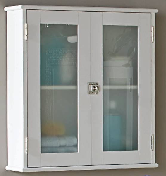 Better Homes & Gardens Bathroom Wall Cabinet, White