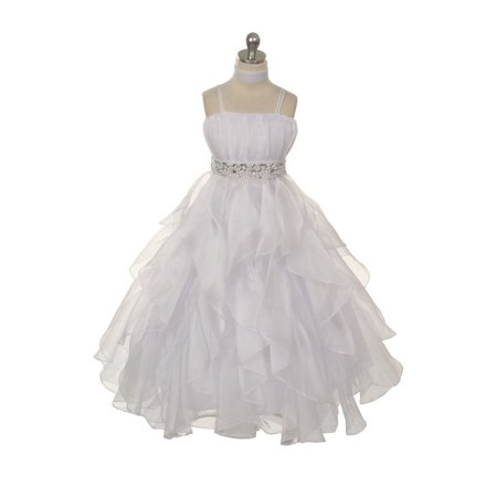 Baby Girl Dresses Special Occasion (Chic Baby White Organza Special Occasion Dress Girls )