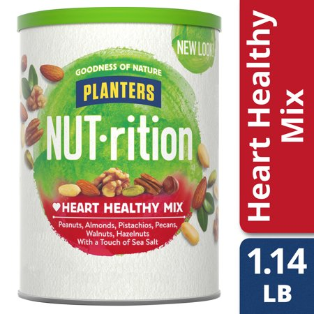 Planters NUT-rition Heart Healthy Mix, 18.25 oz Canister (Healthy Halloween Snack For Preschool)