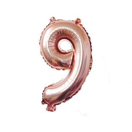 40 Inch Rose Gold Number Foil Helium Balloon for Birthday Party Decoration - Party City 40 Off