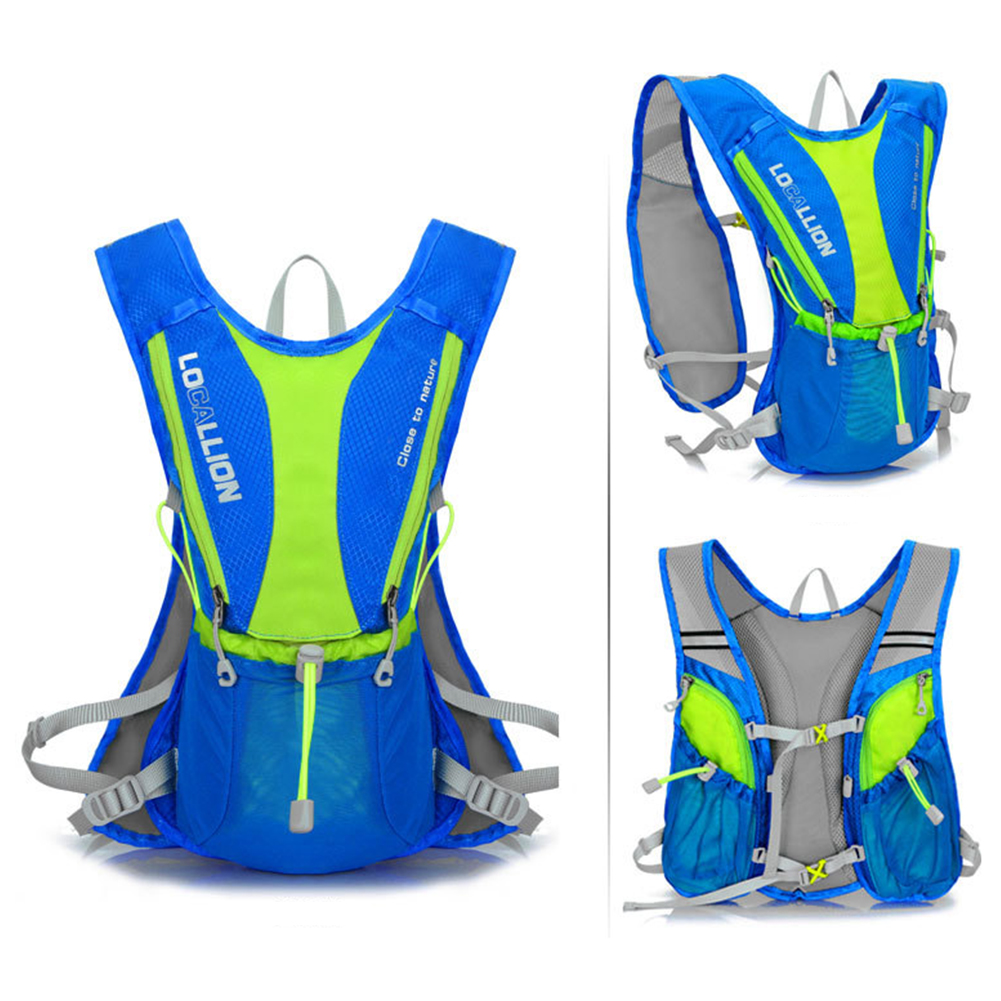 5L 12L Bike Bicycle Hydration Pack Shoulder Backpack Running Rucksack Marathon Vest Pack + 2L Water Bag
