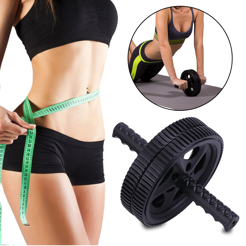 AB Abdominal Wheel Roller Gym Strength Trainer Body Workout Exercise Equipment