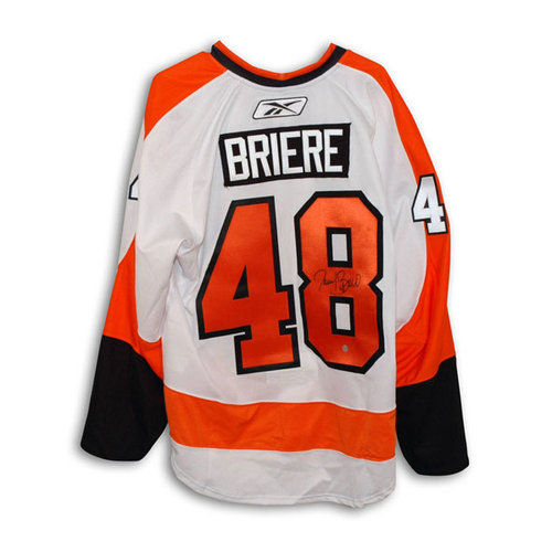 NHL - Danny Briere Philadelphia Flyers Autographed White Authentic Reebok Jersey