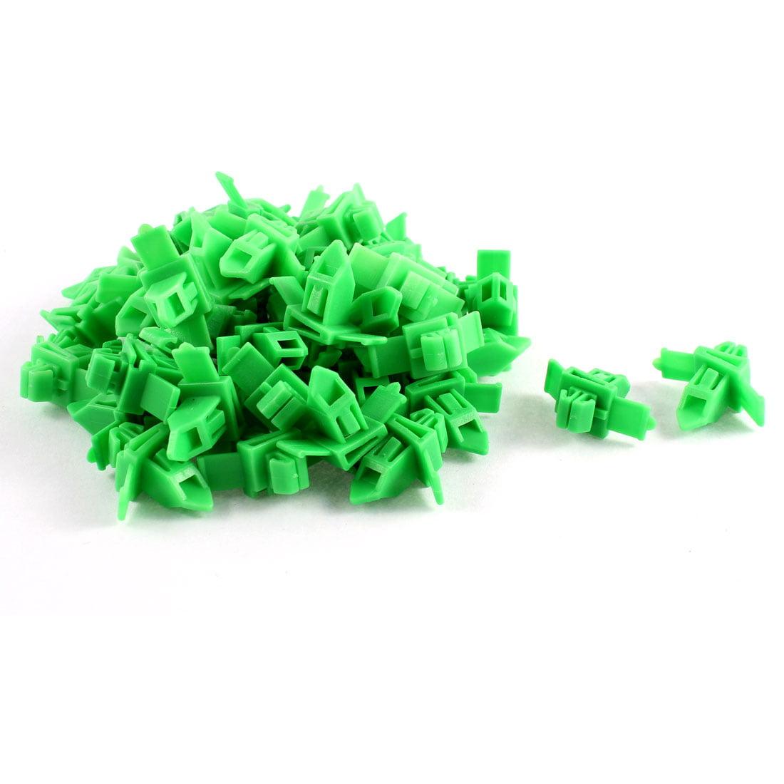 Unique Bargains 50 Pcs Green Plastic Rivets Fastener Fender Retainer for Toyota