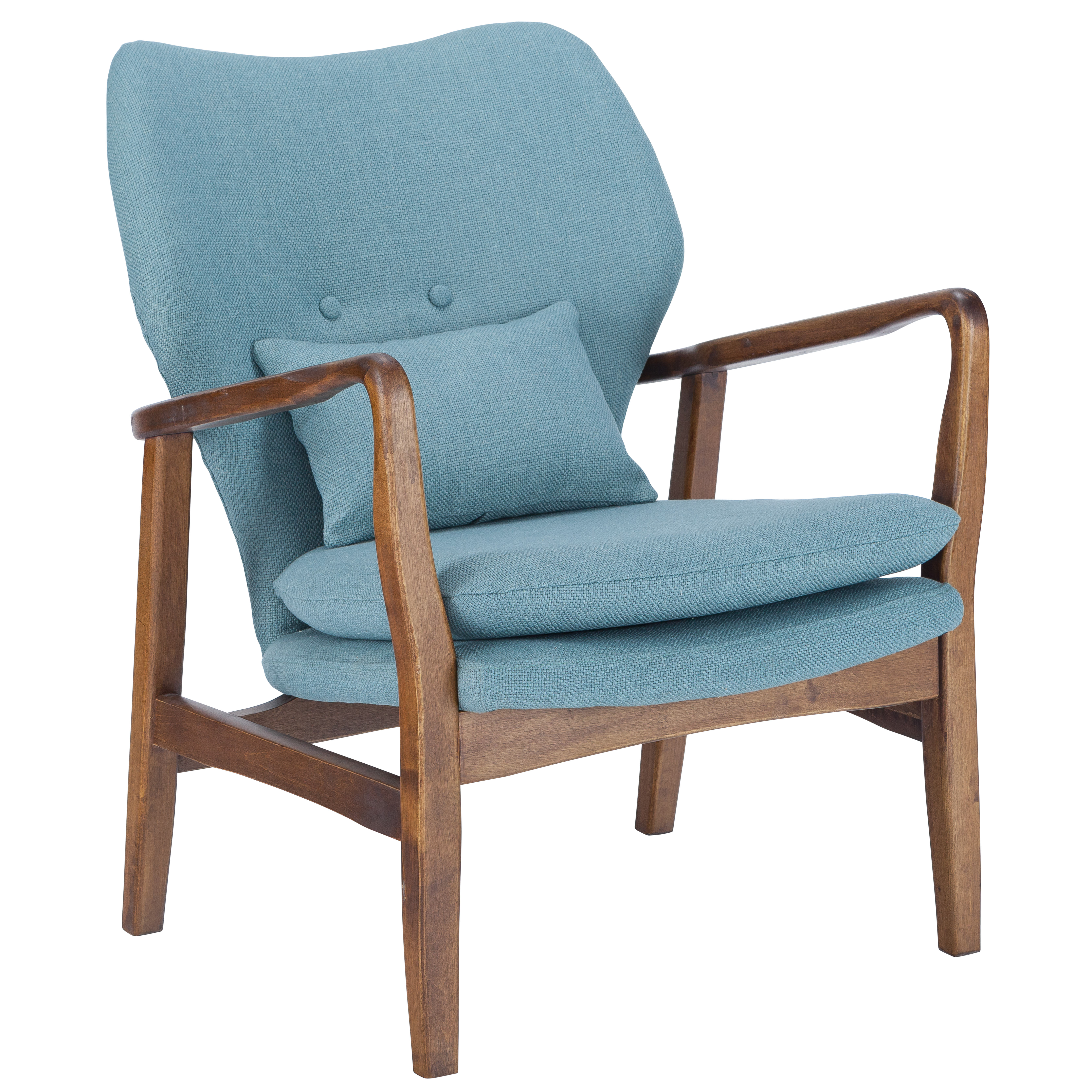 Poly and Bark Atreya Chair with Walnut wood in Beige