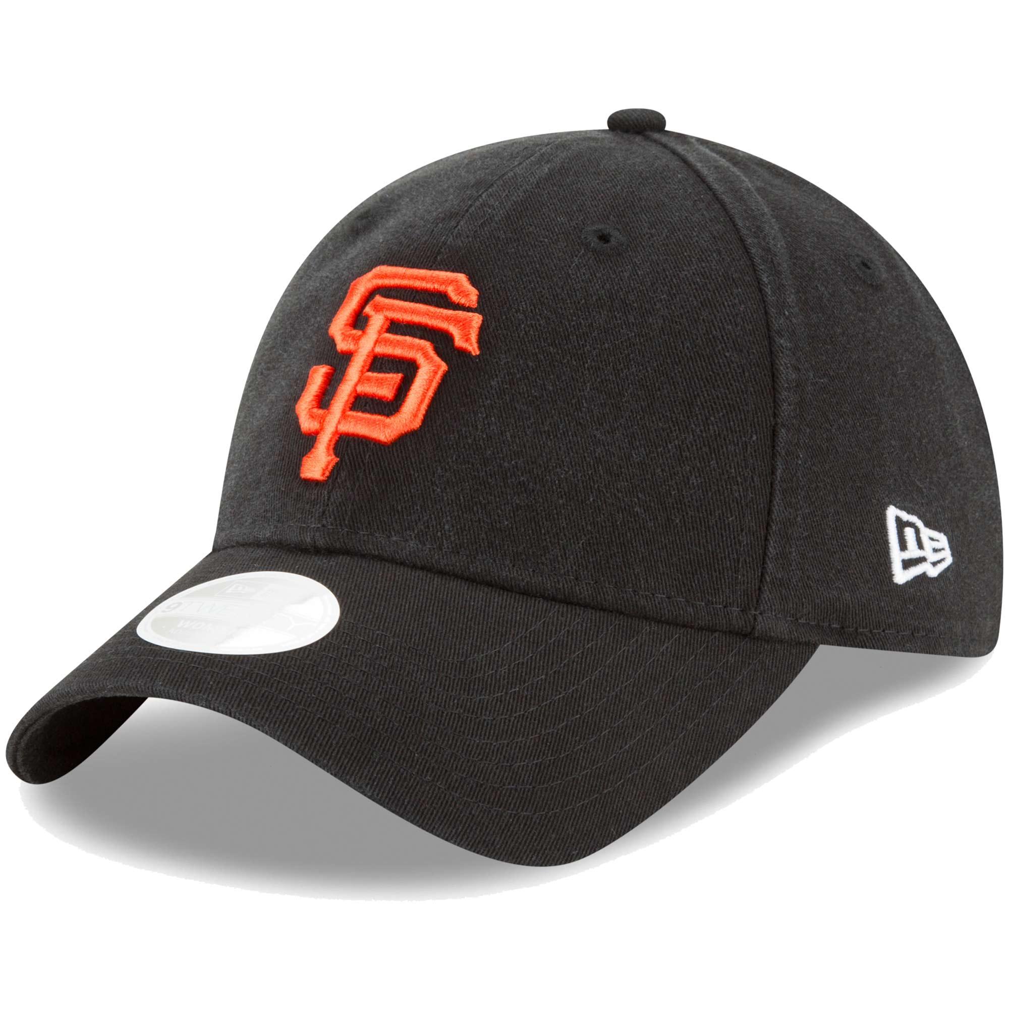 San Francisco Giants New Era Women's Core Classic Twill Team Color 9TWENTY Adjustable Hat - Black - OSFA