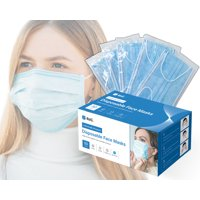 Reli. Face Masks, Individually Wrapped (50 Masks) 3 Layer Protection with Filter Layer - Breathable Disposable Face Masks - Ear Loop - Face Protection Mask