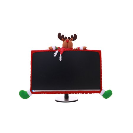 Christmas Decorations Office (Santa Claus Snowman Design Notebook Computer Cover Red Green Pretty Christmas Decoration Supplies Xmas Home Office)