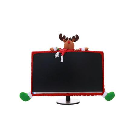 Santa Claus Computer (Santa Claus Snowman Design Notebook Computer Cover Red Green Pretty Christmas Decoration Supplies Xmas Home Office)
