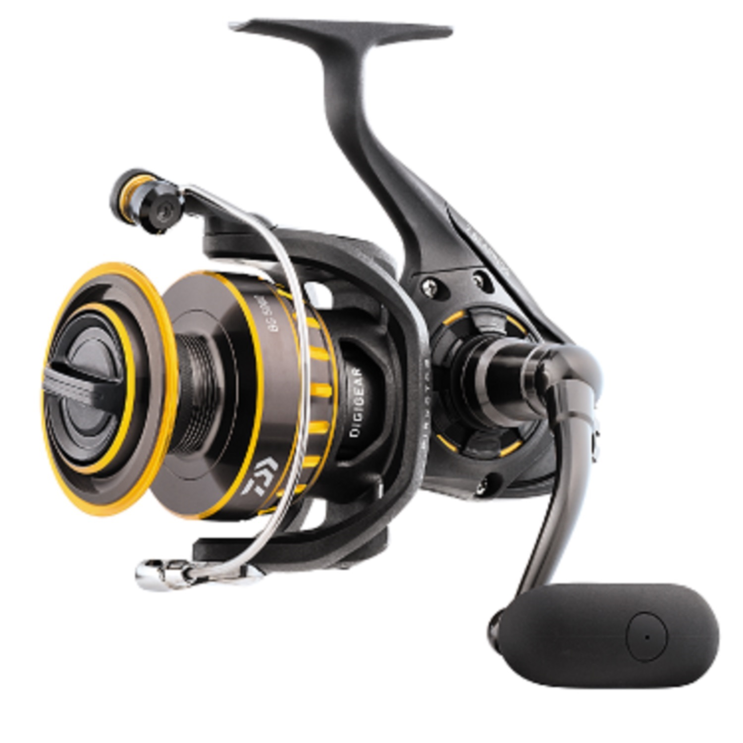 "Daiwa BG Saltwater Spinning Reel 3500, 5.7:1 Gear Ratio, 6+1 Bearings, 38.50"" Retrieve Rate, 17.60 lb Max Drag"