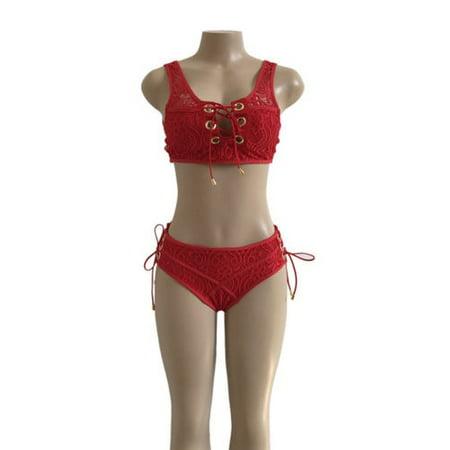 075a88b873f01 Womens Pushu Up Lace Bra Bandage Bikini Set Swimsuit Triangle Swimwear  Bathing Beachwear - Walmart.com