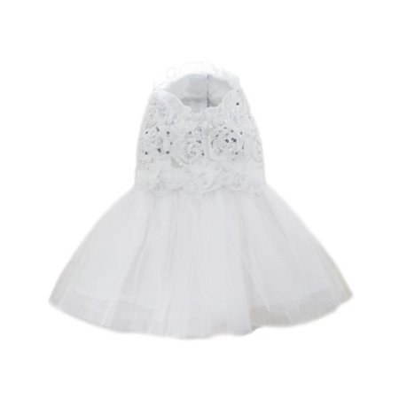 Pooch Outfitters PAWD-S Aurora Wedding Dress, White - Small - image 1 of 1