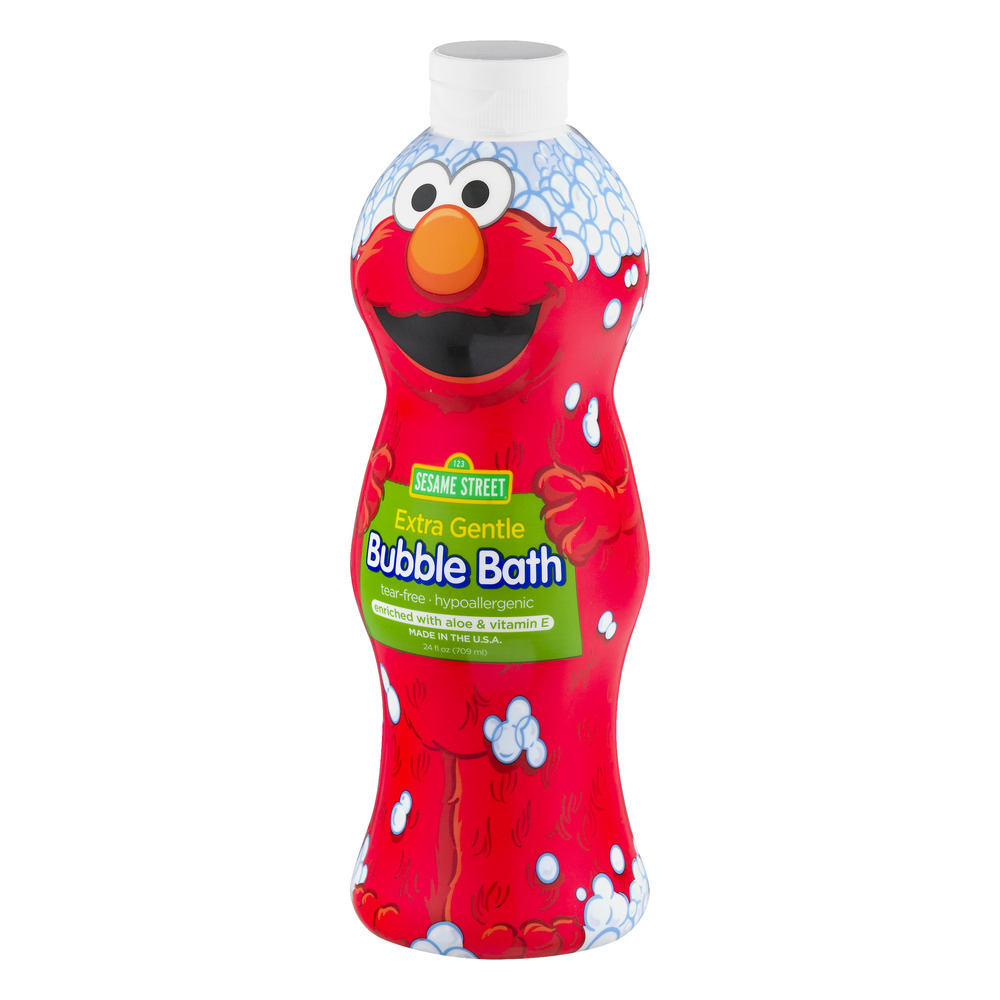 Sesame Street Extra Gentle Bubble Bath, Fragrance and Dye Free, 24 ...