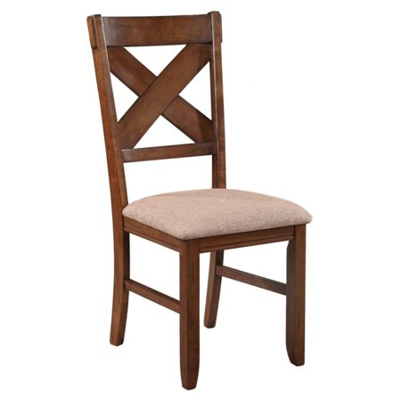 Roundhill Furniture Karven Solid Wood Dining Chairs , Set of 2