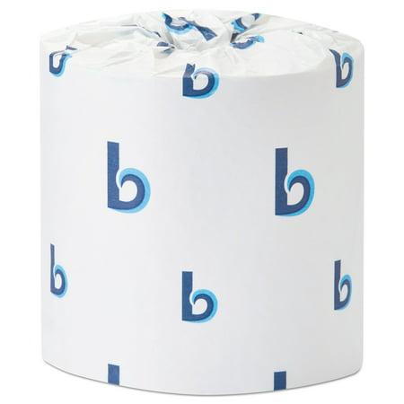 Boardwalk Office Packs Standard Bathroom Tissue, 1-Ply, White, 1000 Sheets/RL, 40 Rolls/CT -BWK6182