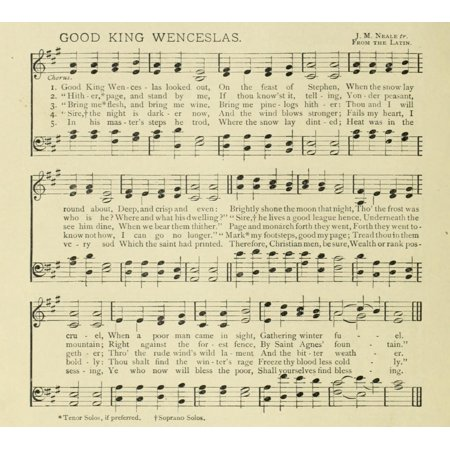 Good King Wenceslas Neale Christmas in Song 1891 Canvas Art -  (24 x 36)