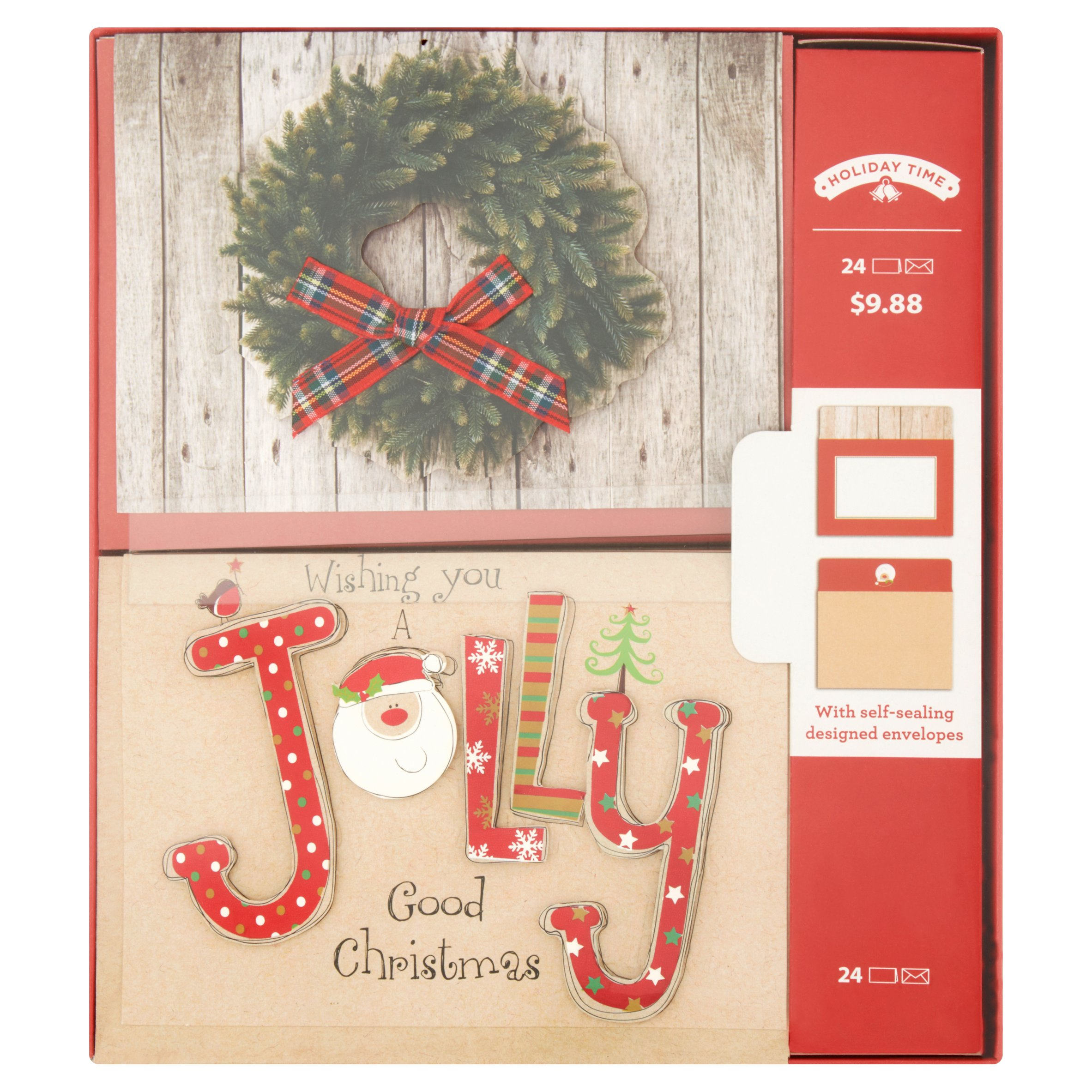 Holiday Time Wreath Cards, 24 count