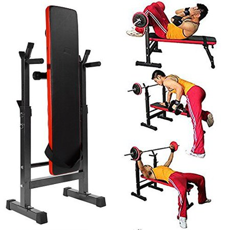 Tbest Fitness Weight/Sit Up Bench Incline,Adjustable Home Fitness Weight/Sit Up Bench Incline Decline Gym Exercise