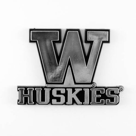 NCAA Washington Huskies Chrome Automobile Emblem