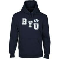 BYU Cougars Acronym Pullover Hoodie - Navy Blue