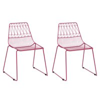 Kids Geometric Wire Activity Chairs 2pk Orange