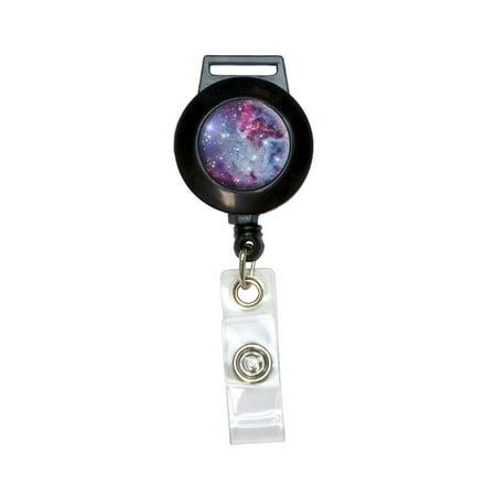 Fox Fur Nebula - Galaxy Space Retractable Badge Card ID Holder - Retractable Name Badge Holders