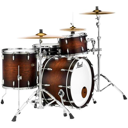 Pearl Vintage Hybrid Wood Fiberglass Series 3-piece Shell Pack Satin Cocoa (Best Pearl Drum Kit)