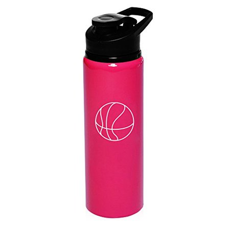 25 oz Aluminum Sports Water Travel Bottle Basketball - Basketball Water Bottles