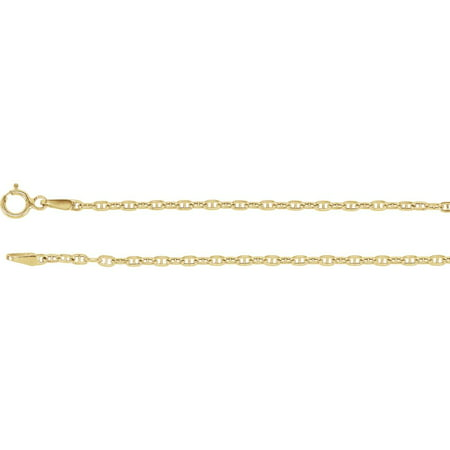 Jewels By Lux 14K Yellow Gold 1.75mm Hollow Anchor 7