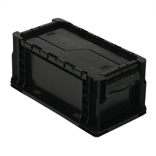 Quantum Storage Heavy Straight Wall Stacking Storage Container with Attached Lid (Set of 3)