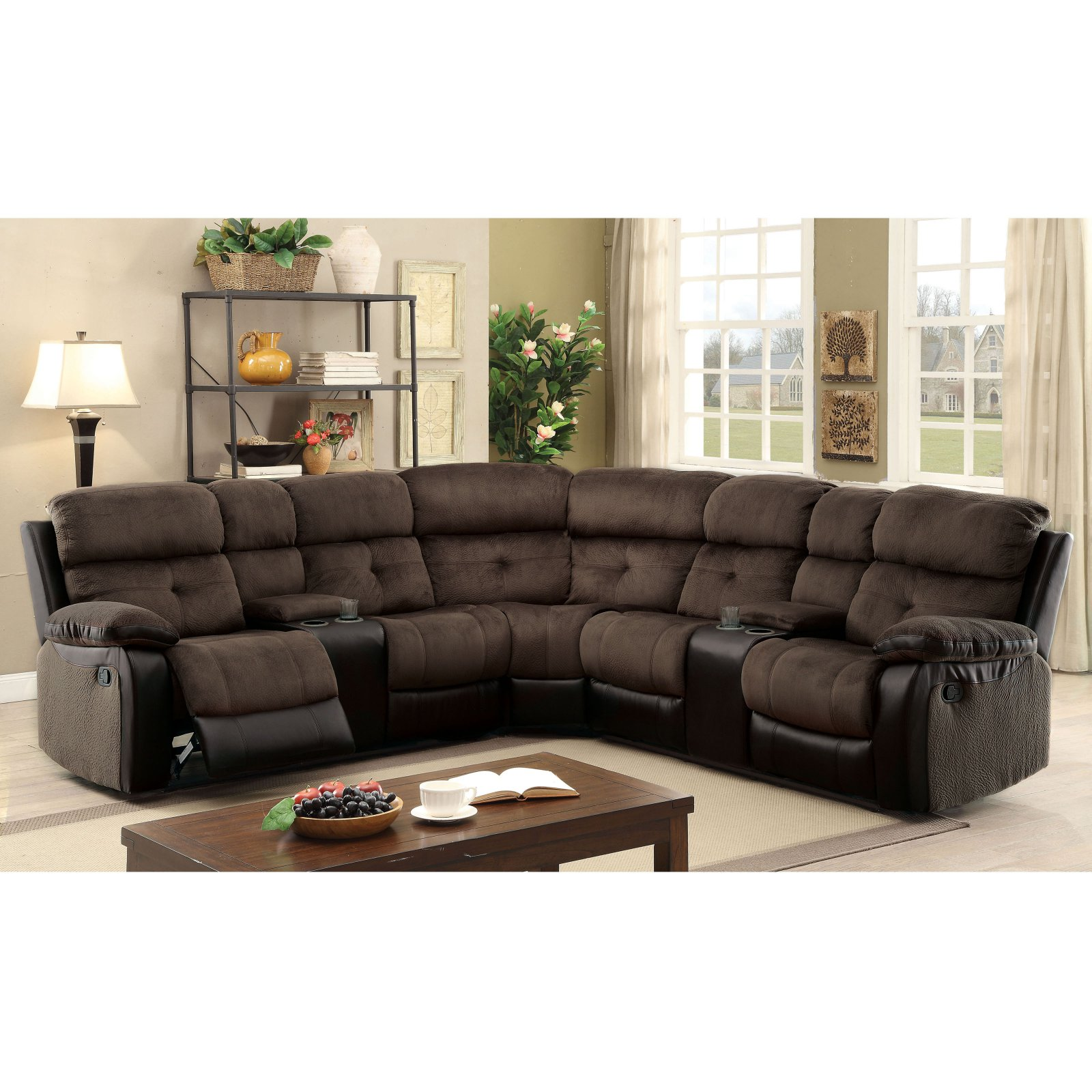 Furniture of America Mervin Reclining Sectional Sofa