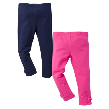 Gerber Stretch Leggings with Bow, 2-pack (Baby Girls and Toddler Girls)