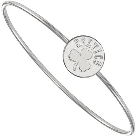 LogoArt NBA Boston Celtics Sterling Silver Bangle Bracelet Boston Celtics Jewelry