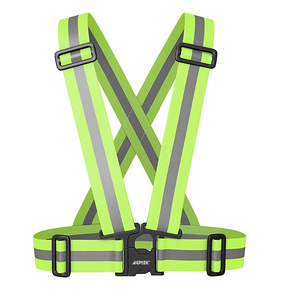 Image Reflective Vest Harness High Visibility for Safety Running Cycling Adjustable