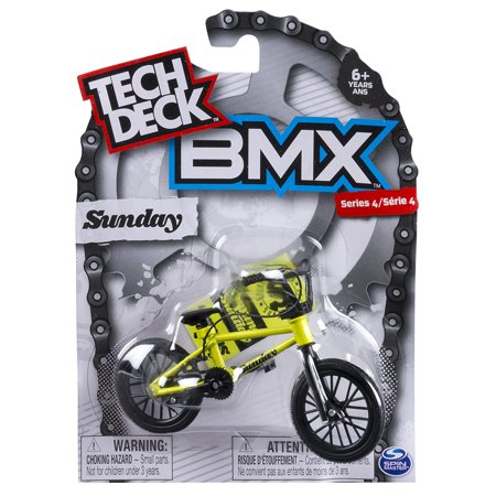 Bmx Finger Bike   Sunday   Black Yellow  Tech Deck Delivers Authentic Replica Bmx Bikes And Graphics From The Top Global Brands  By Tech Deck