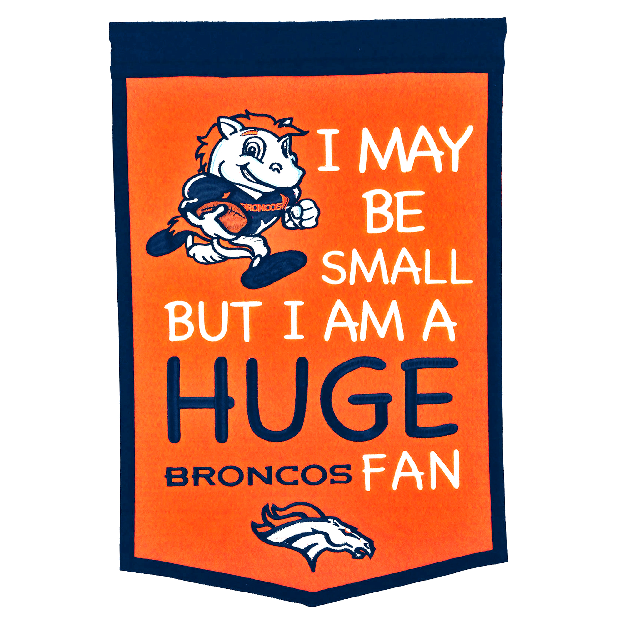 "Denver Broncos 12"" x 18"" Lil Fan Traditions Banner - No Size"