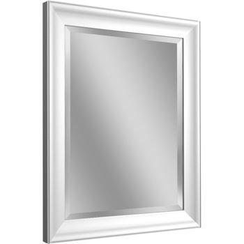 Arctic White Handcrafted Styrene frame Mirror - Walmart.com