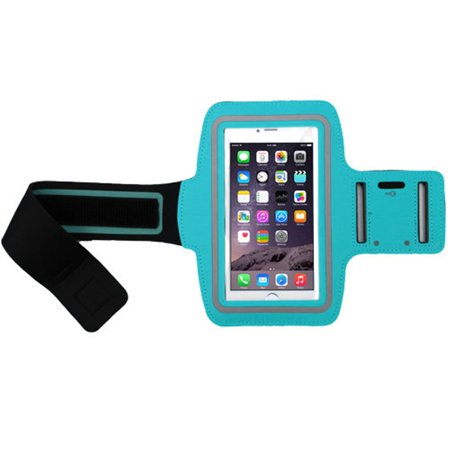 Insten Blue Adjustable Sports Running Gym Workout Armband Sportband Phone Holder w/ Key Storage Pouch for SAMSUNG Galaxy Mega Galaxy Note 9 Note 3 J7 Prime Note Edge S6 edge Plus (2018) S9 (Samsung Galaxy S4 Storage Space Running Out)