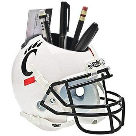 RDB Holdings & Consulting CTBL-021302 Cincinnati Bearcats NCAA Football Schutt Mini Helmet Desk Caddy, White Cincinnati Bearcats Replica Mini Helmet