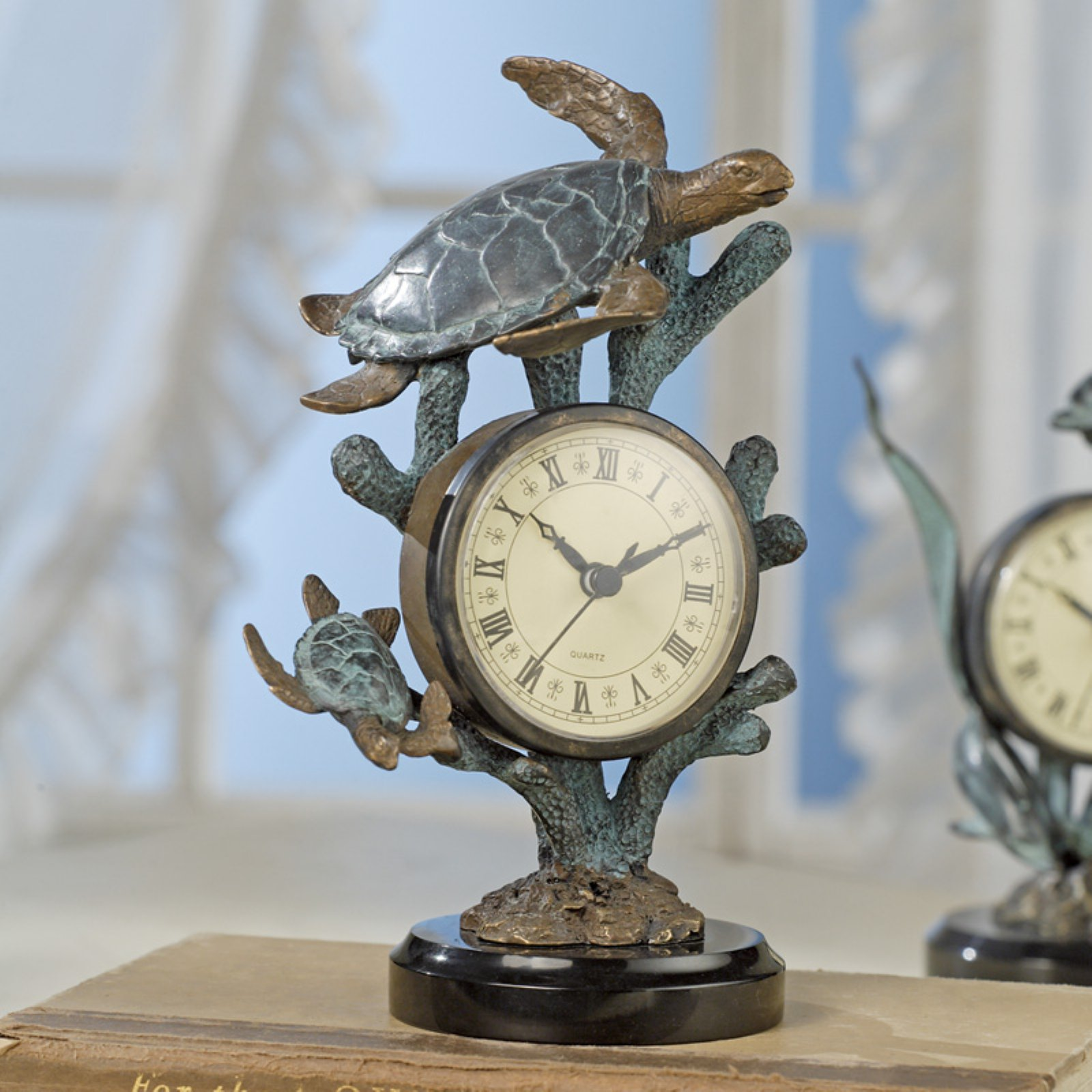 San Pacific International Turtle Table Clock