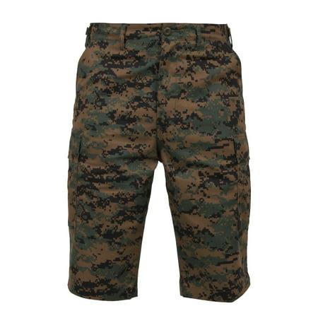 - Rothco Long Style B.D.U Shorts, Woodland Digital Camo