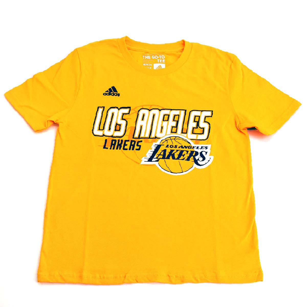 Los Angeles Lakers Youth Distressed Back Logo T-Shirt (Gold)