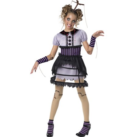 Fractured Marionette Girls Child Broken Doll Halloween Costume-L