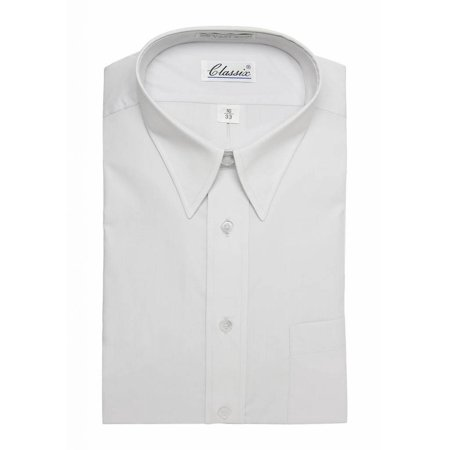 ea536785126ed Classic Mens Dress Shirt Long-Sleeve Button Shirt - Light Blue - 32 - 17.5  ...