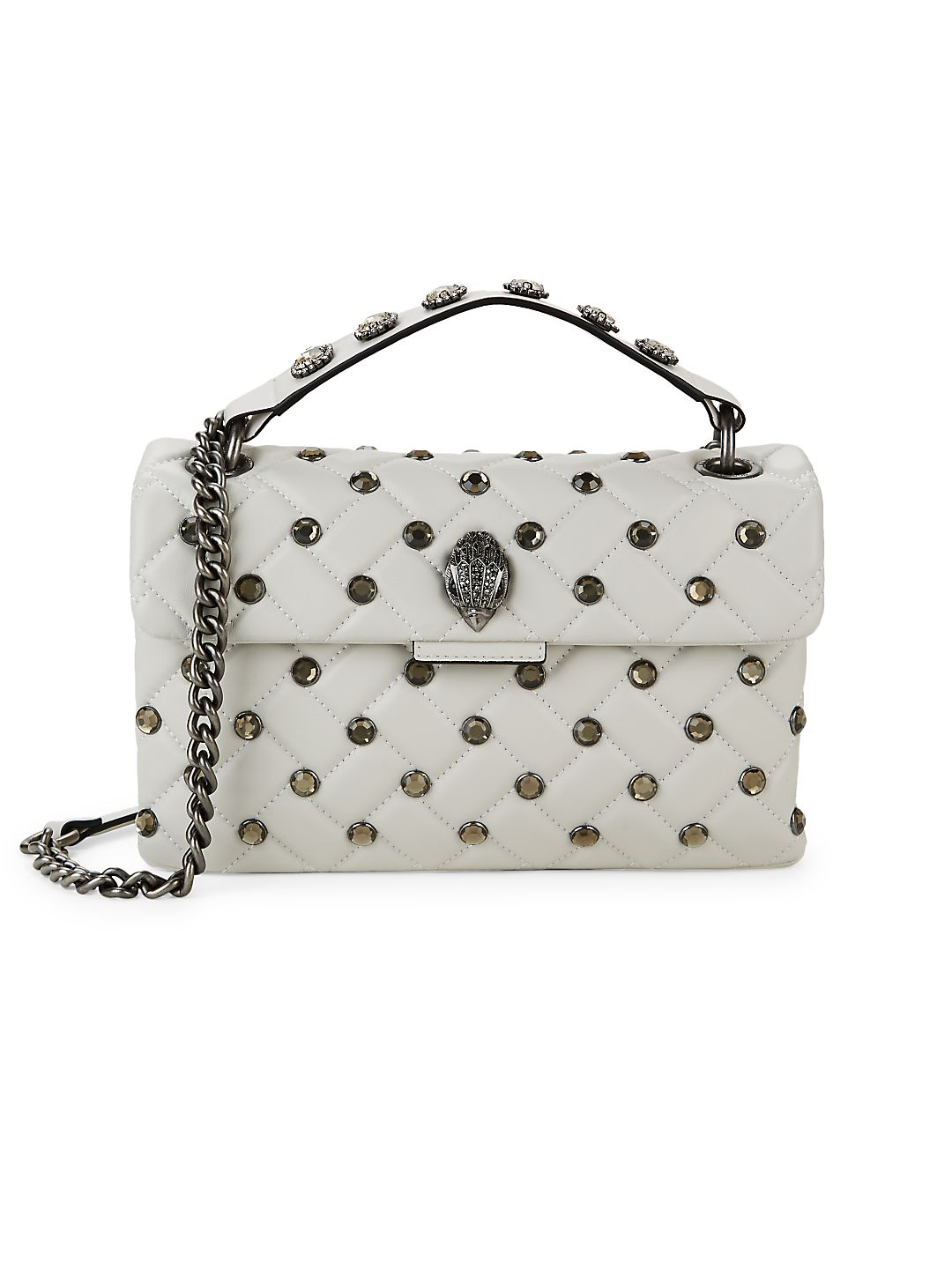 Studded Kensington Leather Crossbody Bag