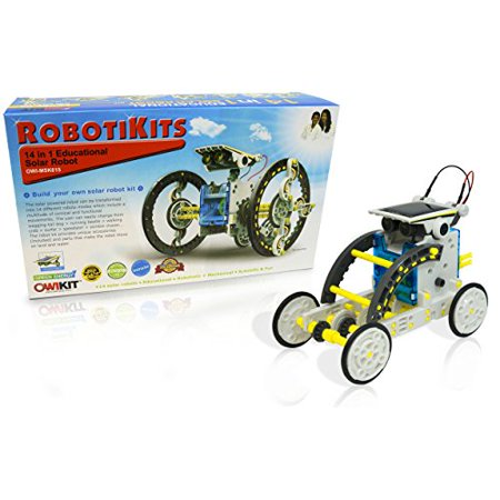Build A Robot Kit (14-in-1 Educational Solar Robot | Build-Your-Own Robot Kit | Powered by the)