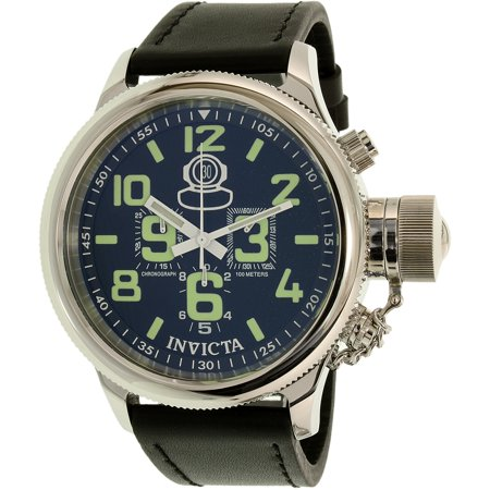 Invicta Men's Russian Diver 7000 Black Leather Swiss Quartz Watch