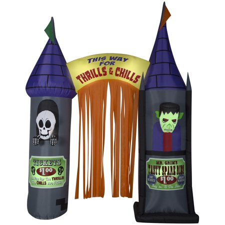 9.5' Airblown Archway House of Horrors Halloween Inflatable