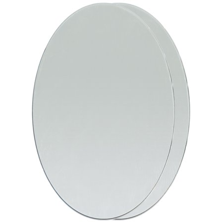 - Oval Glass Mirrors 2/Pkg-3